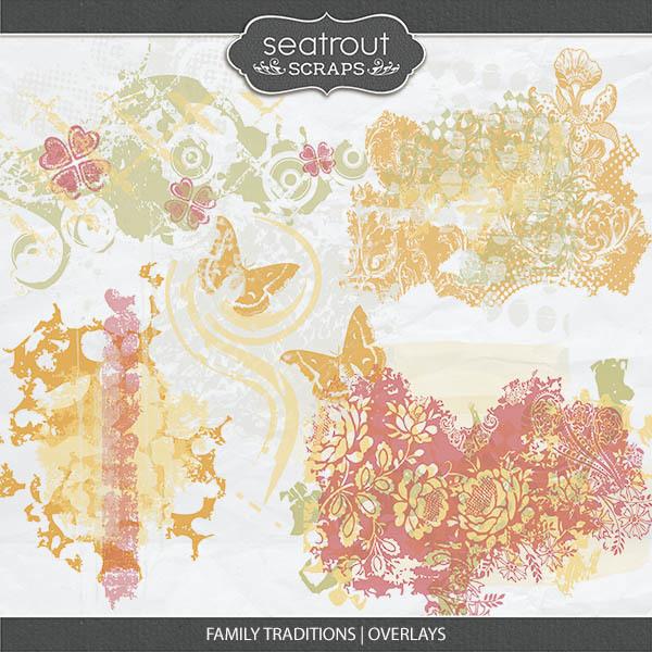 Family Traditions - Overlays Digital Art - Digital Scrapbooking Kits
