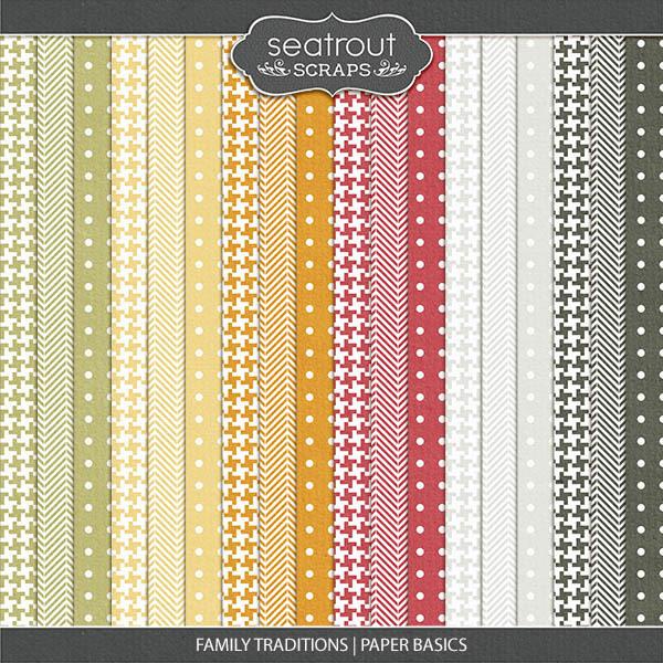 Family Traditions - Paper Basics Digital Art - Digital Scrapbooking Kits