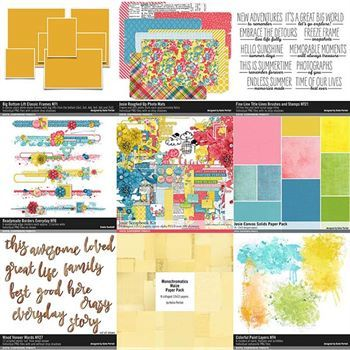Josie Scrapbooking Bundle Digital Art - Digital Scrapbooking Kits