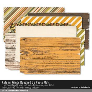 Autumn Winds Roughed Up Photo Mats Digital Art - Digital Scrapbooking Kits
