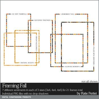 Framing Fall Digital Art - Digital Scrapbooking Kits