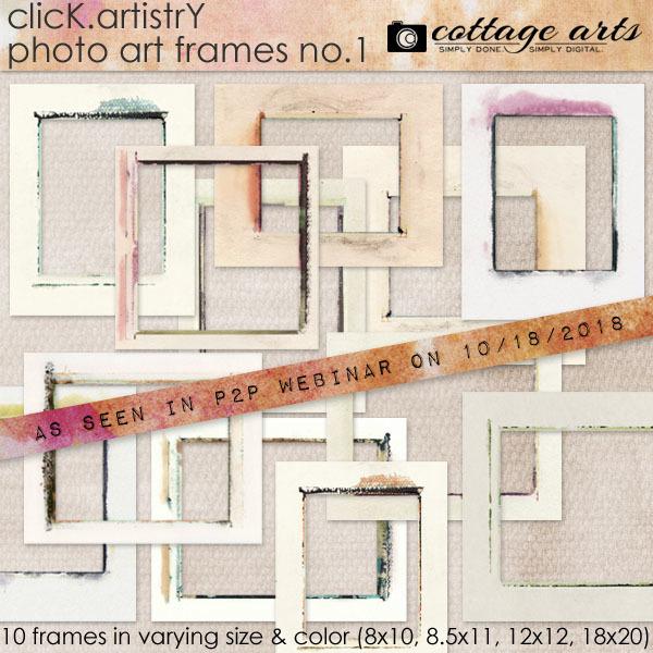 Click.artistry Photo Art Frames 1 Digital Art - Digital Scrapbooking Kits