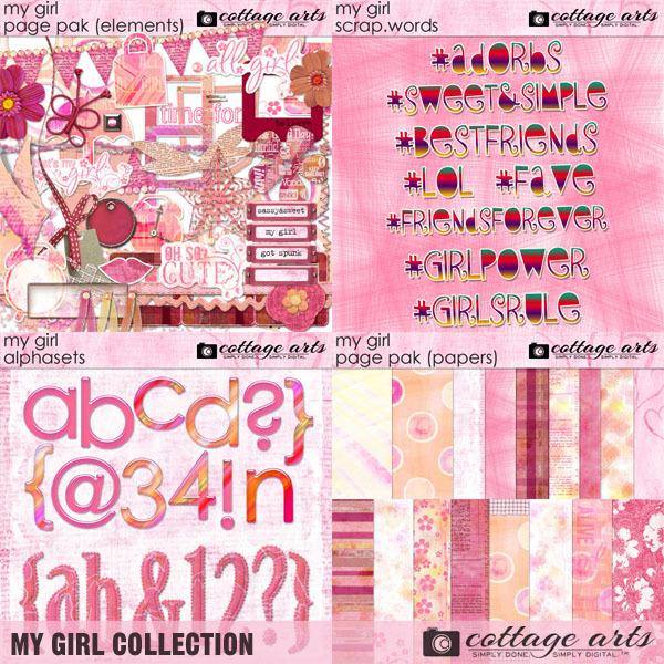 My Girl Collection Digital Art - Digital Scrapbooking Kits