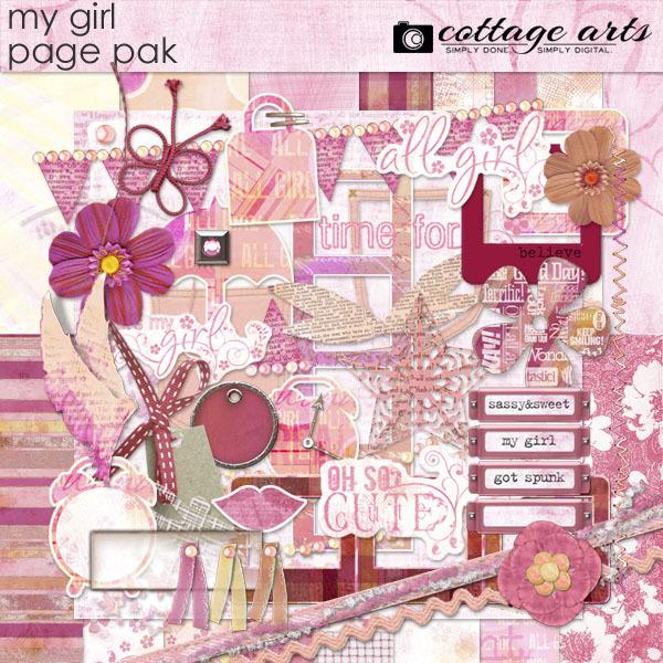 My Girl Page Pak Digital Art - Digital Scrapbooking Kits