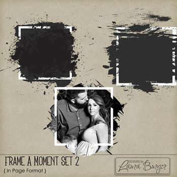 Frame A Moment Set 2 Digital Art - Digital Scrapbooking Kits