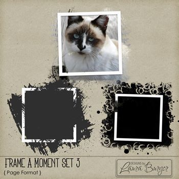 Frame A Moment Set 3 Digital Art - Digital Scrapbooking Kits