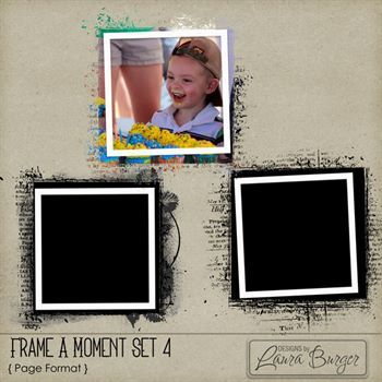 Frame A Moment Set 4 Digital Art - Digital Scrapbooking Kits