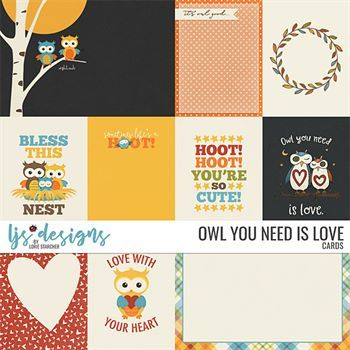 Owl You Need Is Love Cards Digital Art - Digital Scrapbooking Kits