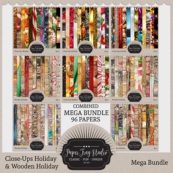 Close-ups Holiday And Wooden Holiday Mega Collection Digital Art - Digital Scrapbooking Kits