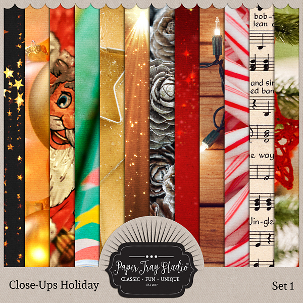 Close-ups Holiday Collection - Set 1 Digital Art - Digital Scrapbooking Kits