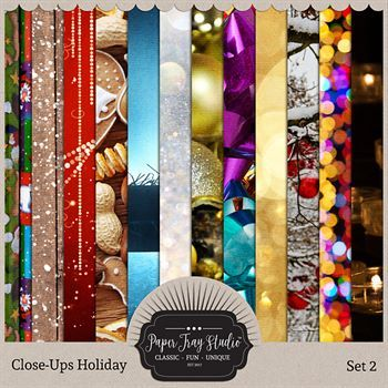 Close-ups Holiday Collection - Set 2 Digital Art - Digital Scrapbooking Kits