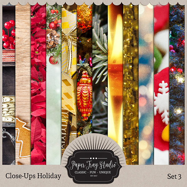 Close-ups Holiday Collection - Set 3 Digital Art - Digital Scrapbooking Kits