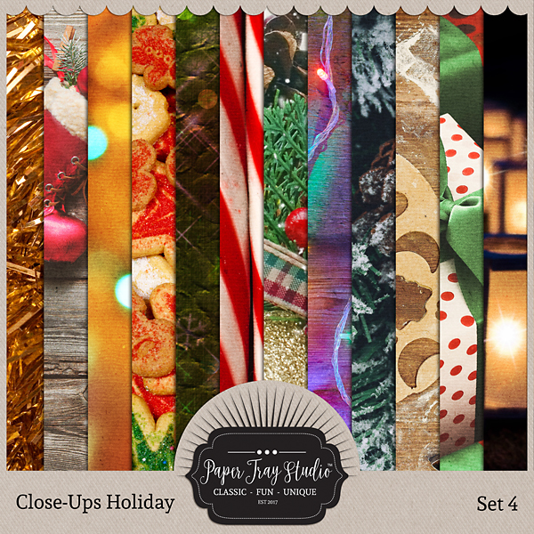 Close-ups Holiday Collection - Set 4 Digital Art - Digital Scrapbooking Kits