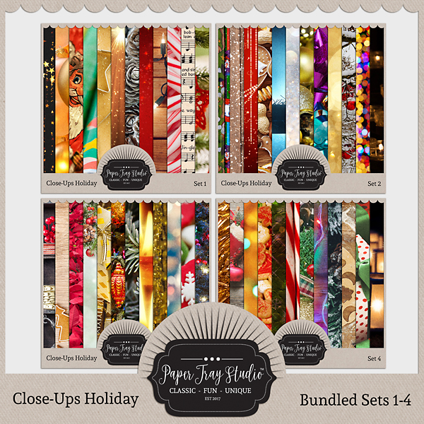 Close-ups Holiday Collection - Sets 1-4 Digital Art - Digital Scrapbooking Kits