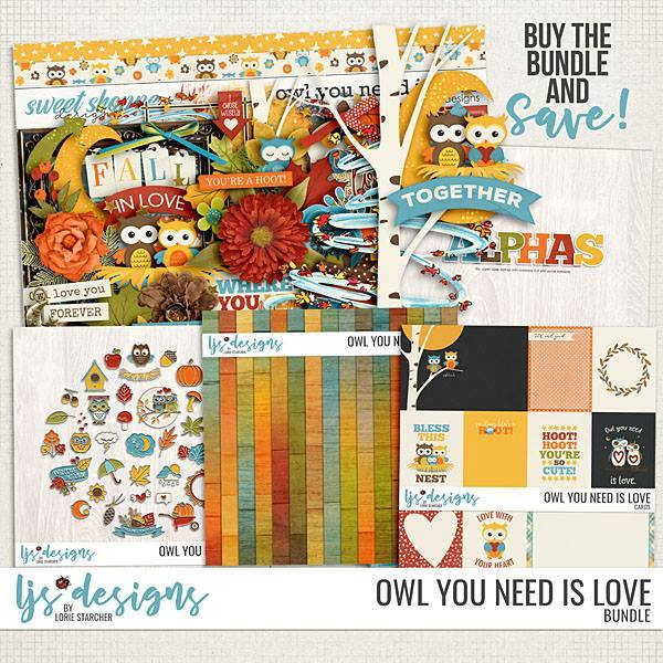 Owl You Need Is Love Bundle Digital Art - Digital Scrapbooking Kits