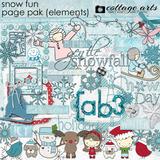 Snow Fun Page Pak
