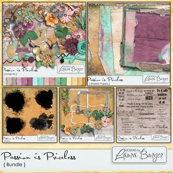 Passion Is Priceless Bundle Digital Art - Digital Scrapbooking Kits