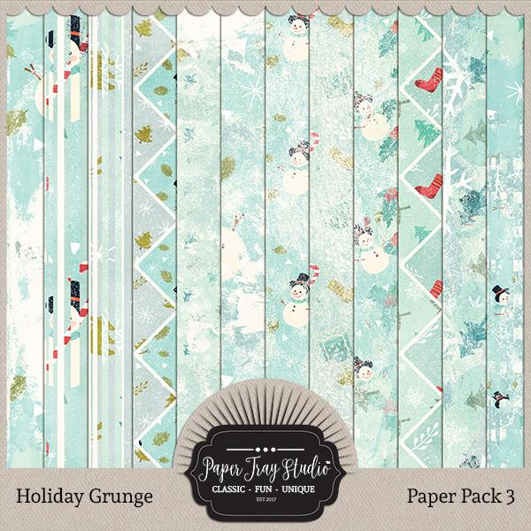 Holiday Grunge - Set 3 Digital Art - Digital Scrapbooking Kits