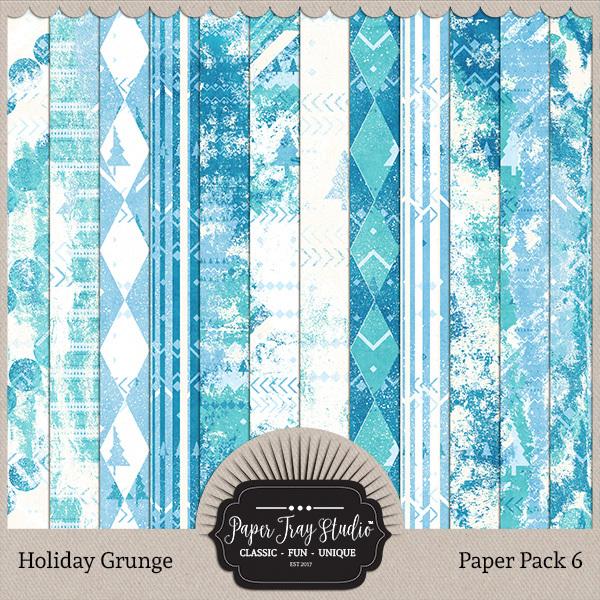 Holiday Grunge - Set 6 Digital Art - Digital Scrapbooking Kits