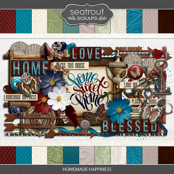 Homemade Happiness Kit Digital Art - Digital Scrapbooking Kits