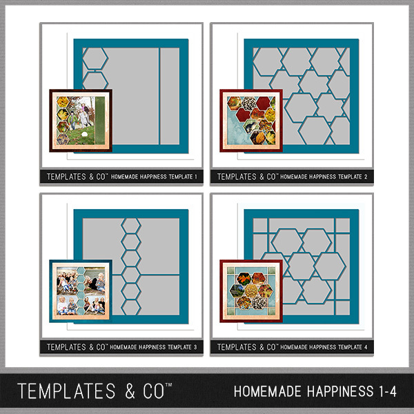 Homemade Happiness Templates 1-4 Digital Art - Digital Scrapbooking Kits