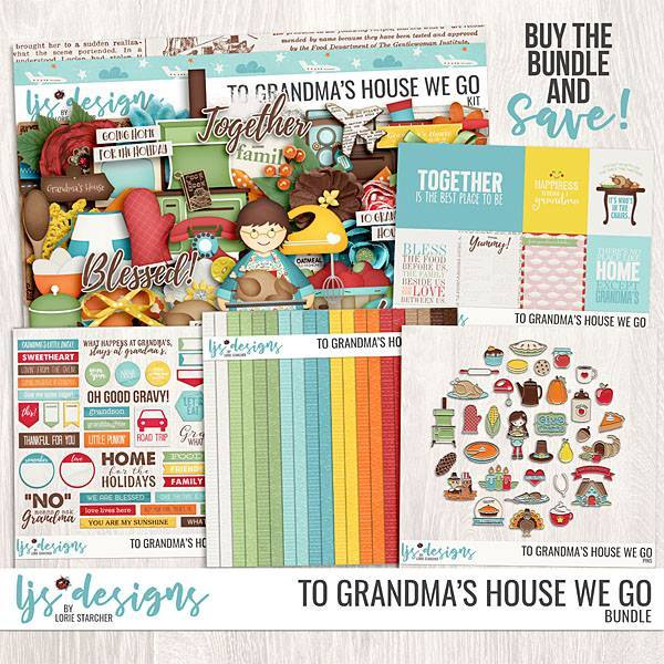 To Grandma's House We Go Bundle Digital Art - Digital Scrapbooking Kits