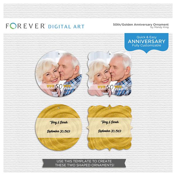 50th-golden Anniversary Ornament