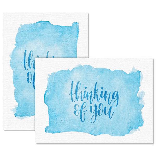 Watercolor Thinking of You Card