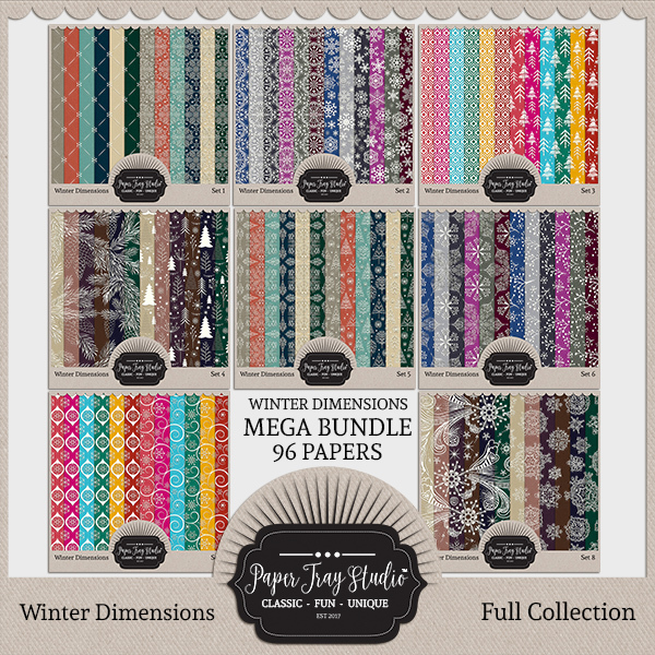 Winter Dimensions - Mega Bundle Digital Art - Digital Scrapbooking Kits
