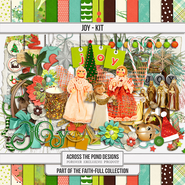Faithfull Series - Joy - Page Kit Digital Art - Digital Scrapbooking Kits