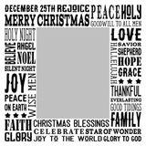 Christmas Blessings Subway Art Canvas