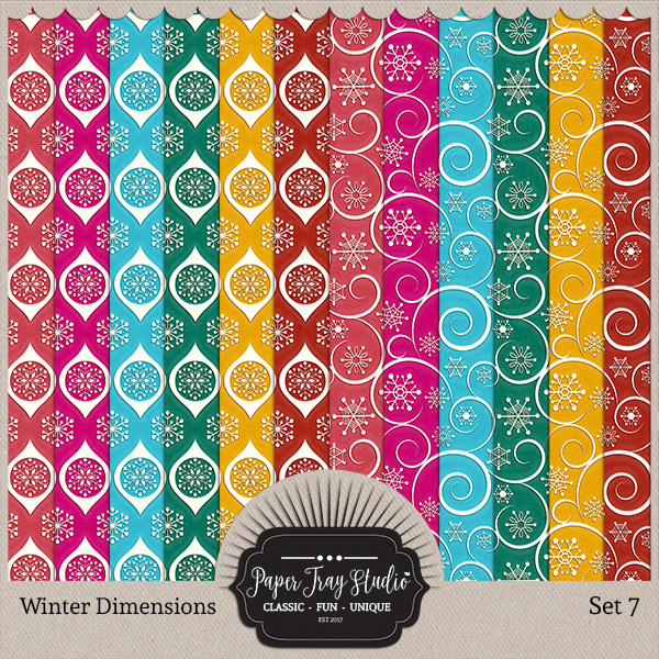 Winter Dimensions - Set 7 Digital Art - Digital Scrapbooking Kits