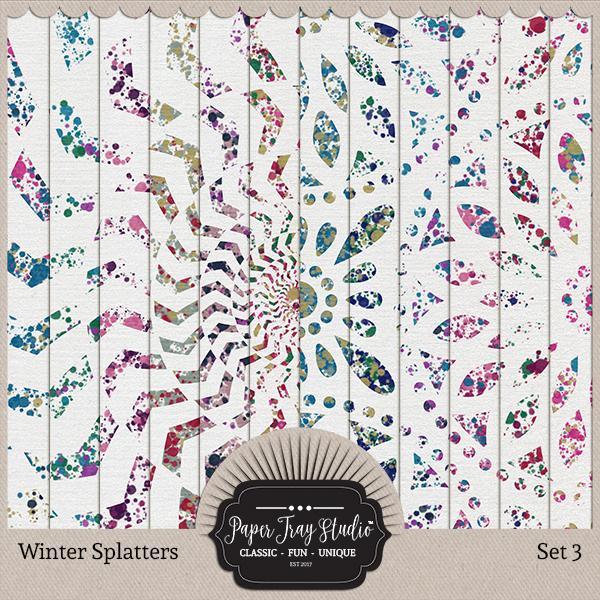Winter Splatters - Set 3 Digital Art - Digital Scrapbooking Kits
