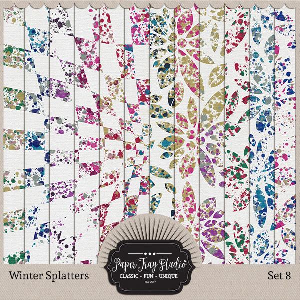 Winter Splatters - Set 8 Digital Art - Digital Scrapbooking Kits