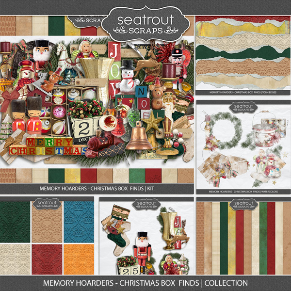 Memory Hoarders Christmas Box Finds - Collection Digital Art - Digital Scrapbooking Kits