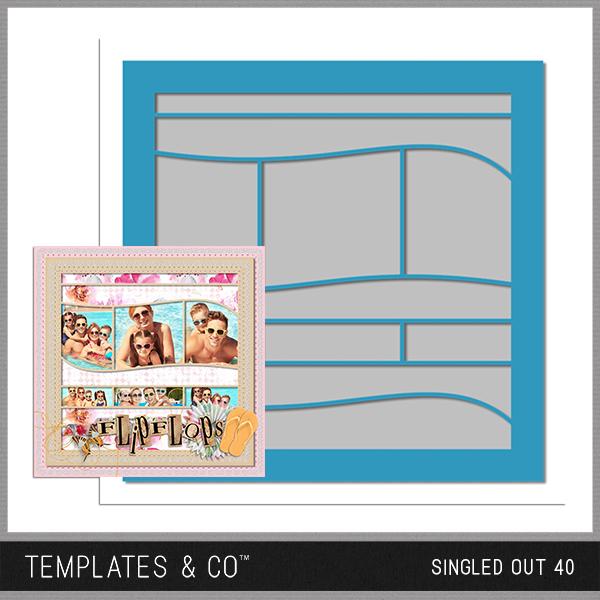 Singled Out 40 Digital Art - Digital Scrapbooking Kits