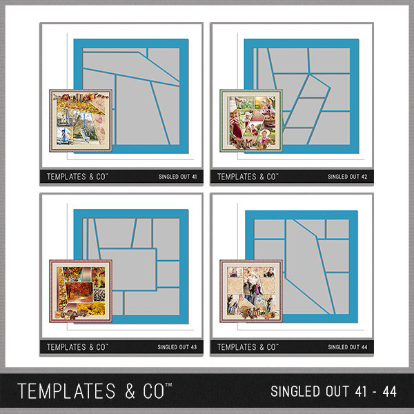 Singled Out 41-44 Digital Art - Digital Scrapbooking Kits