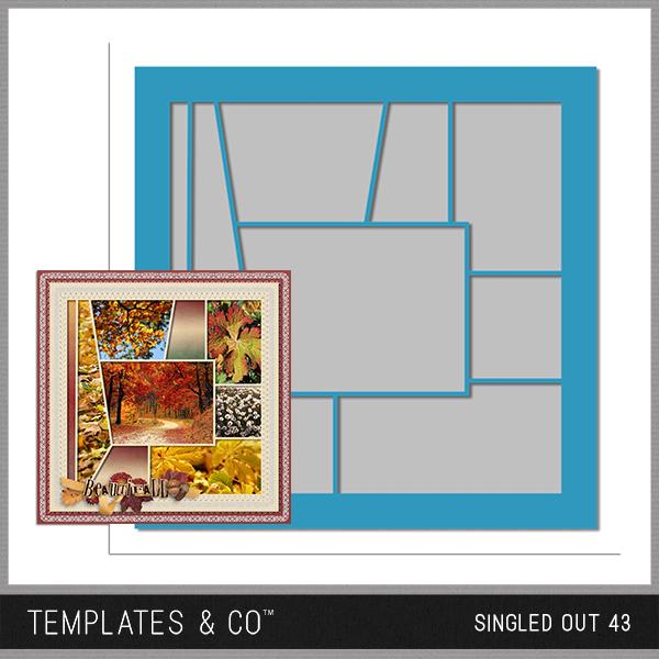 Singled Out 43 Digital Art - Digital Scrapbooking Kits