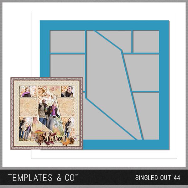 Singled Out 44 Digital Art - Digital Scrapbooking Kits