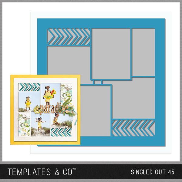 Singled Out 45 Digital Art - Digital Scrapbooking Kits