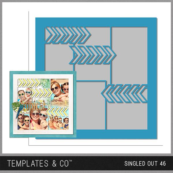 Singled Out 46 Digital Art - Digital Scrapbooking Kits