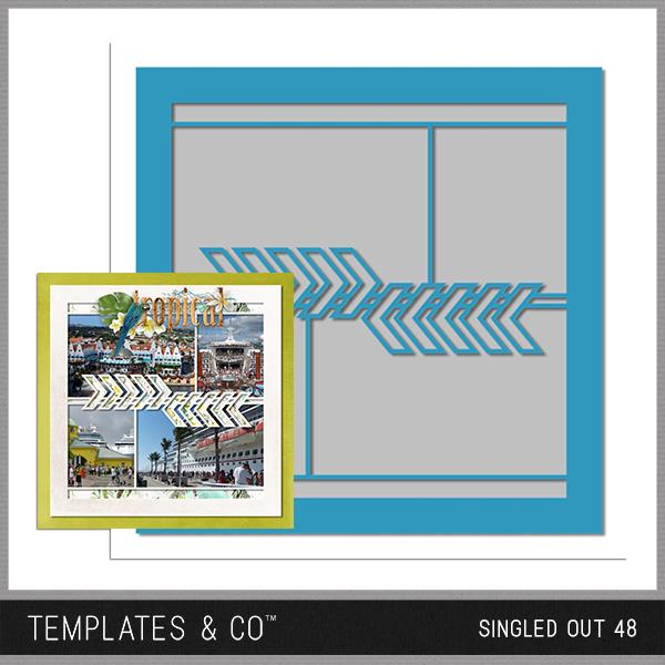 Singled Out 48 Digital Art - Digital Scrapbooking Kits