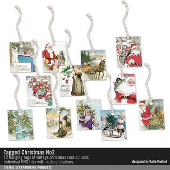 Tagged Christmas No. 02 Digital Art - Digital Scrapbooking Kits