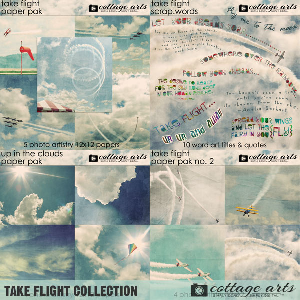 Take Flight Collection Digital Art - Digital Scrapbooking Kits