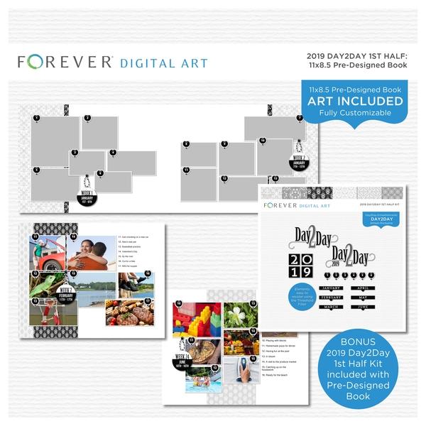 2019 Day2Day 1st Half Pre-designed Book 11x8.5