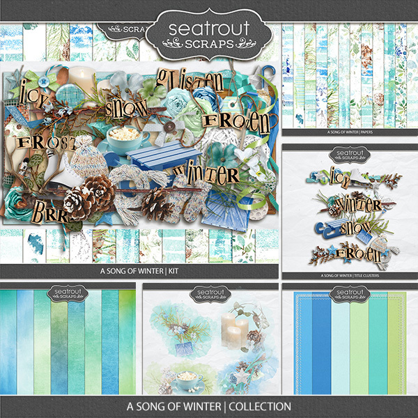 A Song Of Winter Collection Digital Art - Digital Scrapbooking Kits