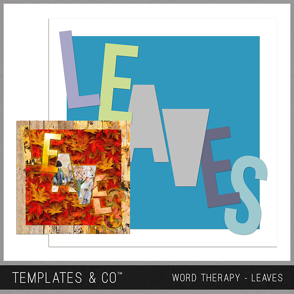 Word Therapy Autumn - Leaves Digital Art - Digital Scrapbooking Kits