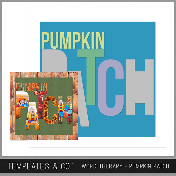 Word Therapy Autumn - Pumpkin Patch Digital Art - Digital Scrapbooking Kits