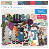 Winter Days - Snowman City Page Kit