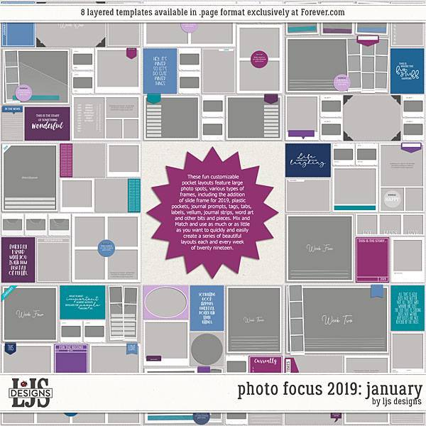 Photo Focus 2019 - January Digital Art - Digital Scrapbooking Kits